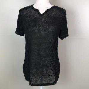 BUCKLE BLACK Standard Fit Black Semi Sheer Shirt